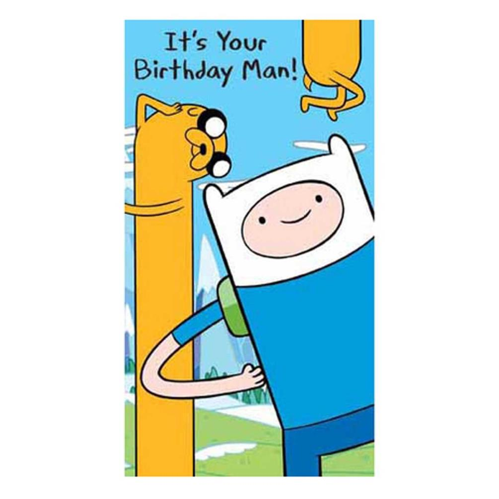 Its Your Birthday Adventure Time Birthday Card (AT004