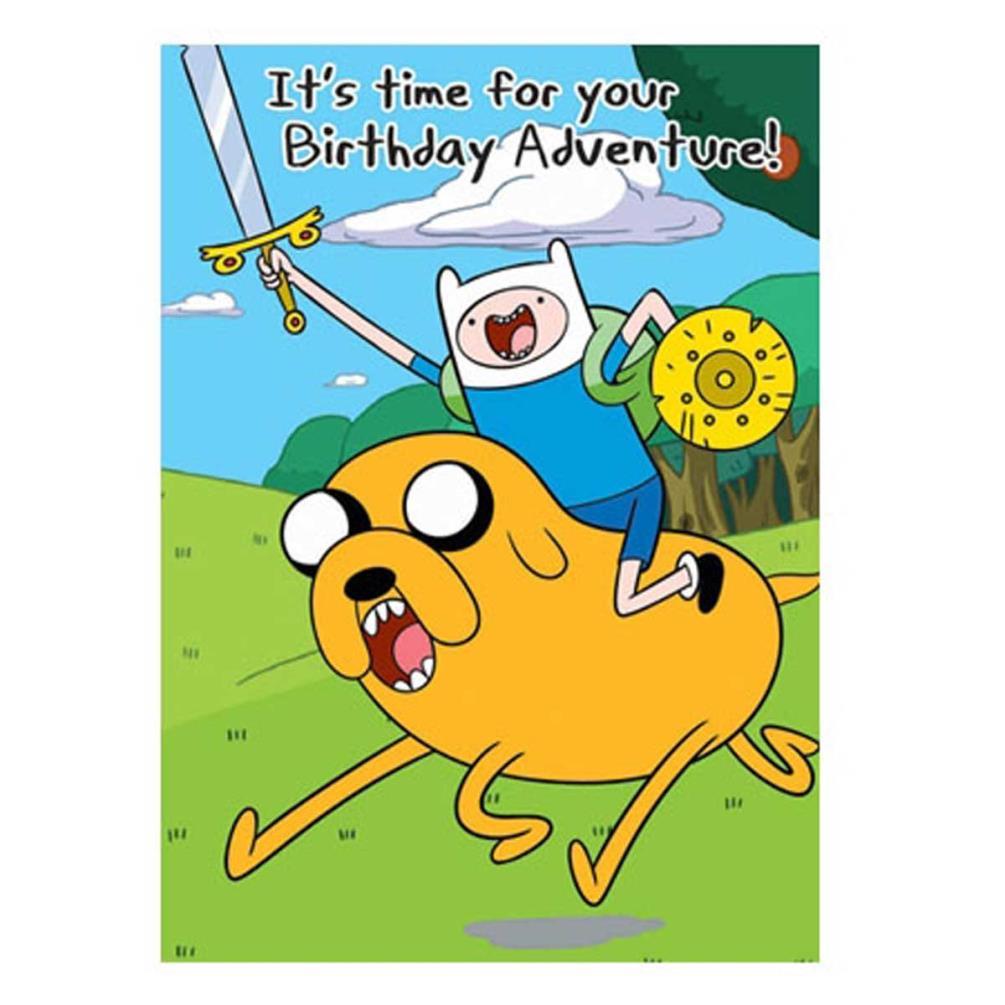 Happy Birthday Adventure Time Birthday Card (AT006