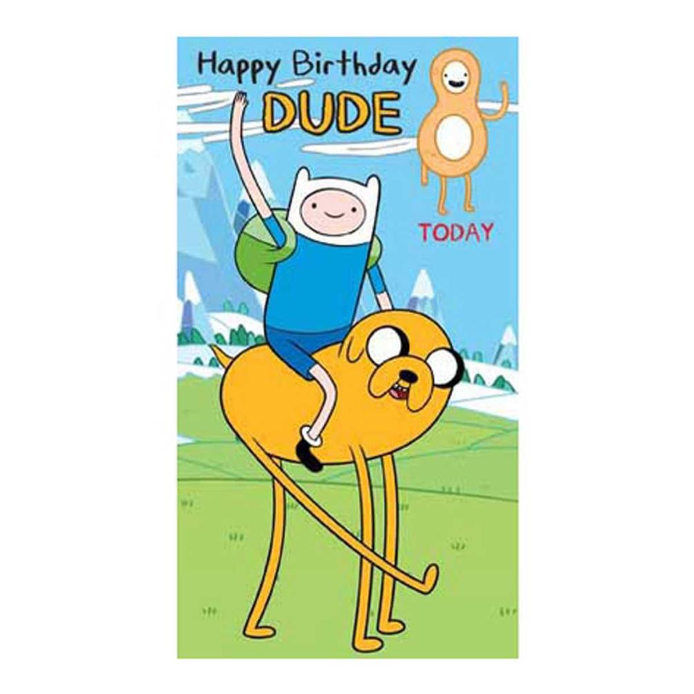8th Birthday Adventure Time Card 210