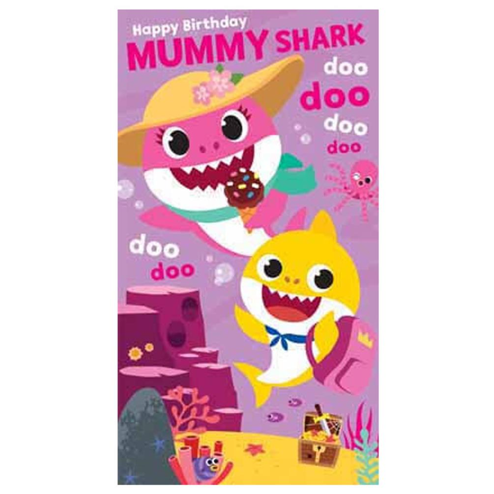 Mummy Shark Baby Shark Birthday Card (BS011)