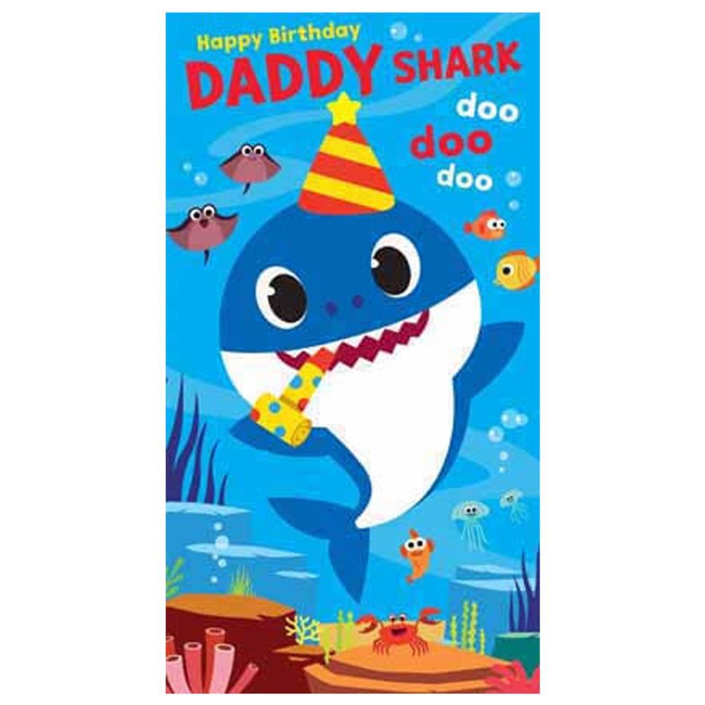 Daddy Shark Baby Shark Birthday Card (BS014)