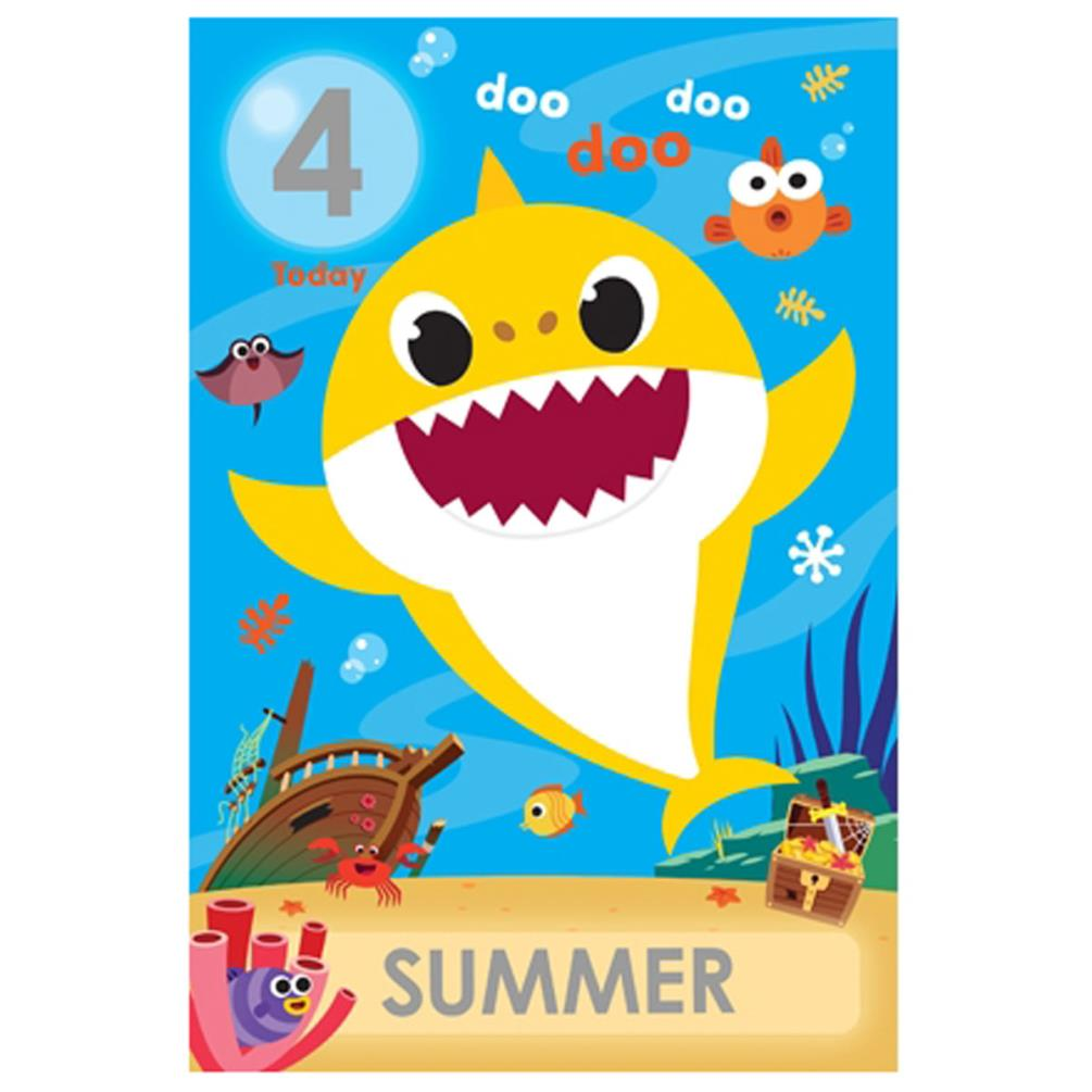 Baby Shark Personalise Your Own Birthday Card (BS016