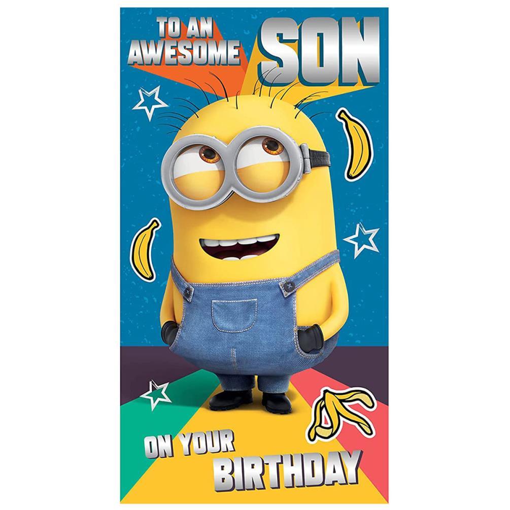 Minions Coolest Son Birthday Card 210
