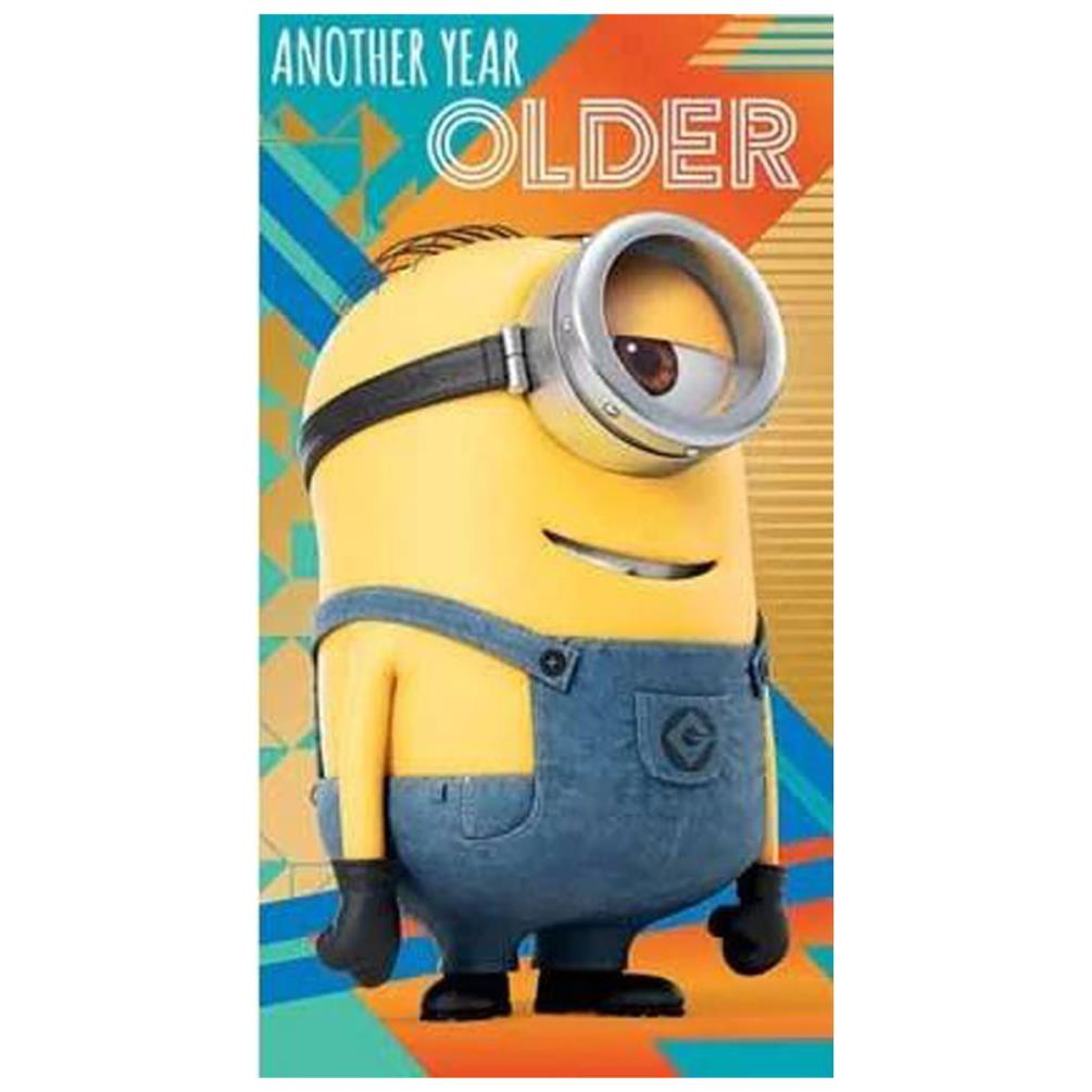 another year older minions birthday card (de012