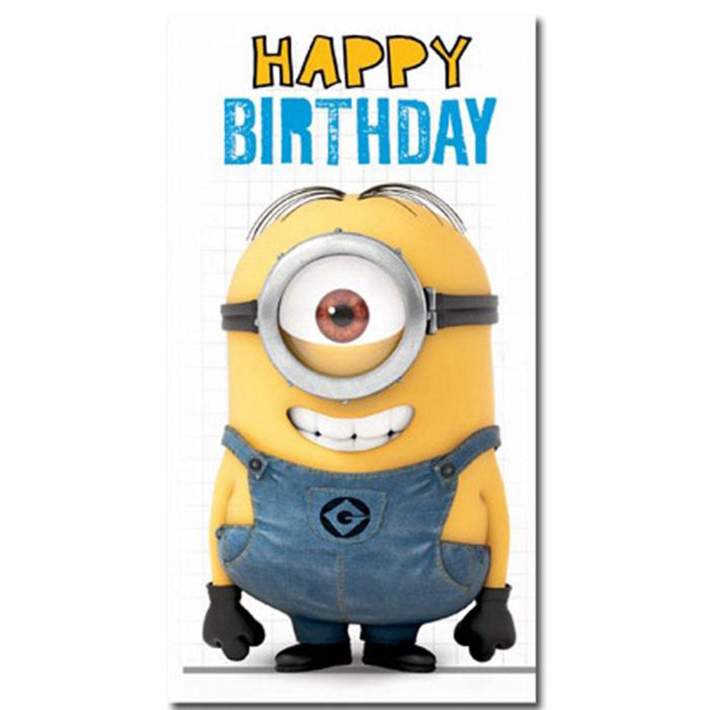 Happy Birthday Minion Fold Out Card 300