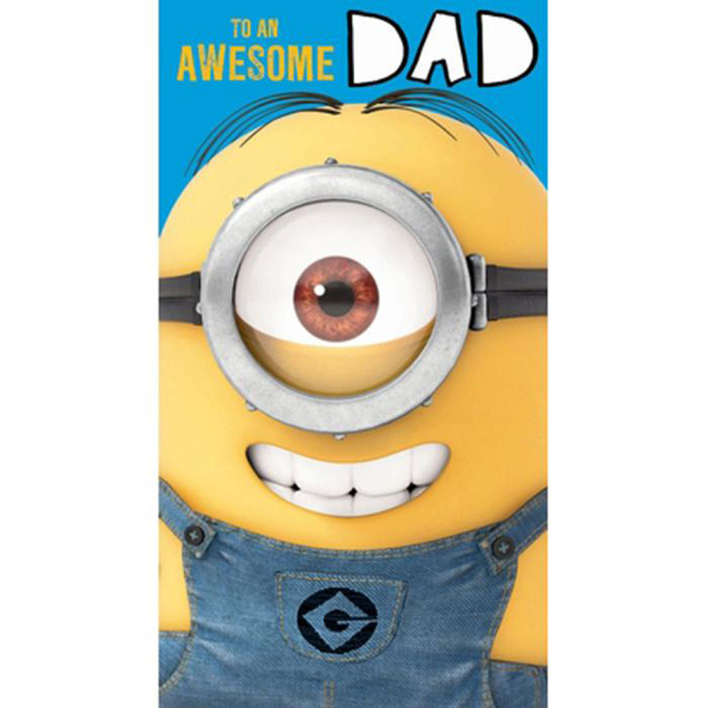 Awesome dad minions birthday card de025 character brands awesome dad minions birthday card bookmarktalkfo Gallery