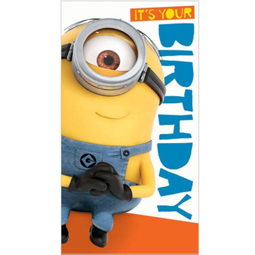 Its Your Birthday Minions Card With Stickers 235