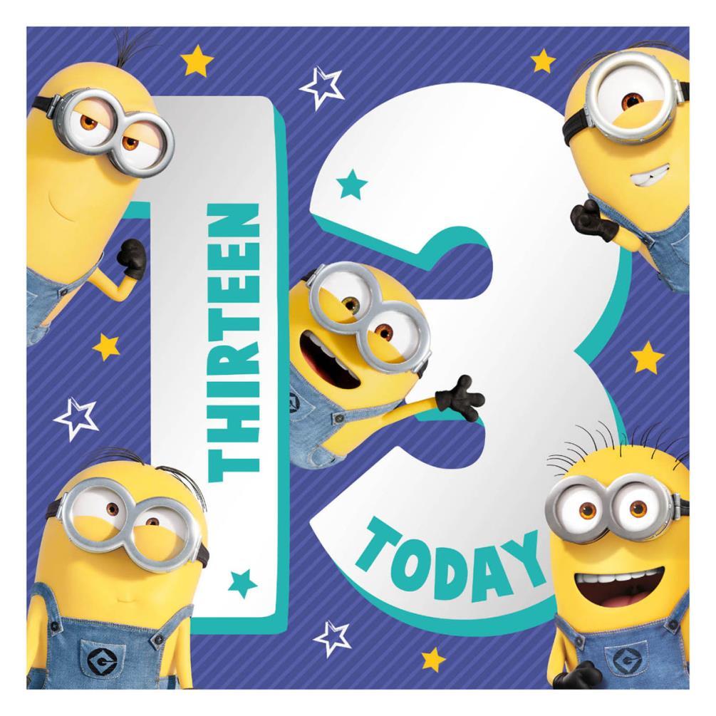 13 Teen Minions 13th Birthday Card 185
