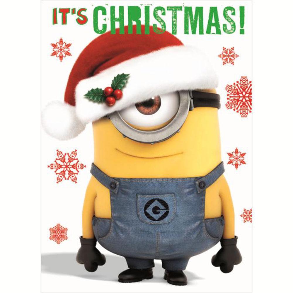 Minion Christmas.Its Christmas Minions Christmas Card