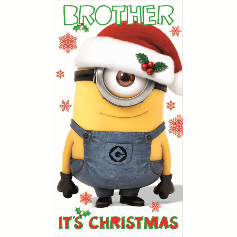 Minions Christmas.Brother Minions Christmas Card