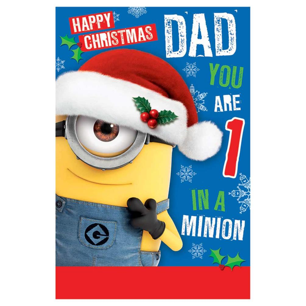 092ad5b87ca41 Minions Dad Christmas Card (DX121) - Character Brands