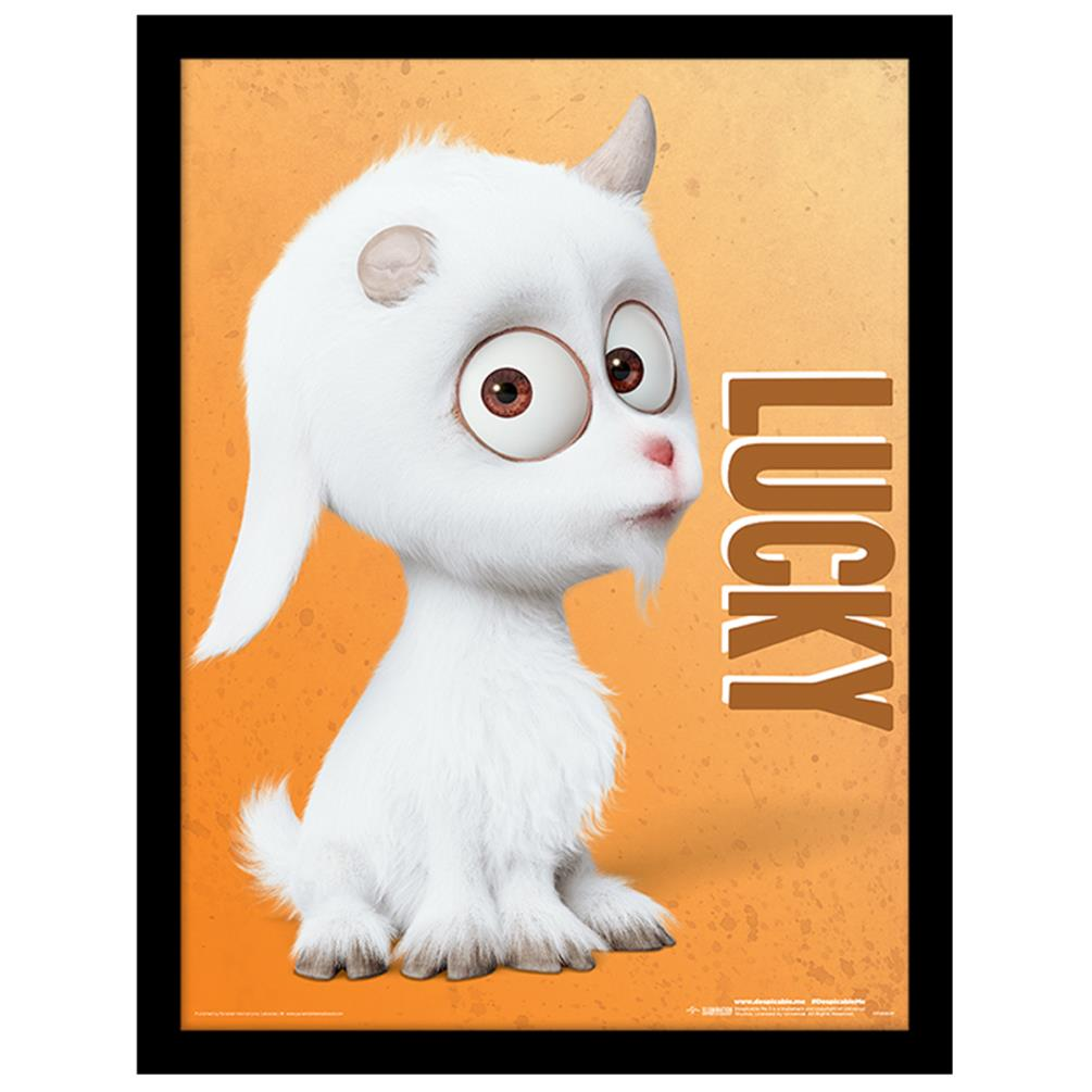 Despicable Me Lucky the Uni Goat Framed Print (30 x 40cm ...