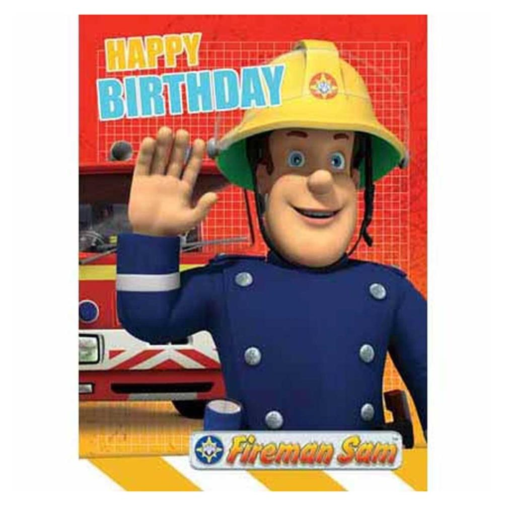 Happy Birthday Fireman Sam Birthday Card Fs002