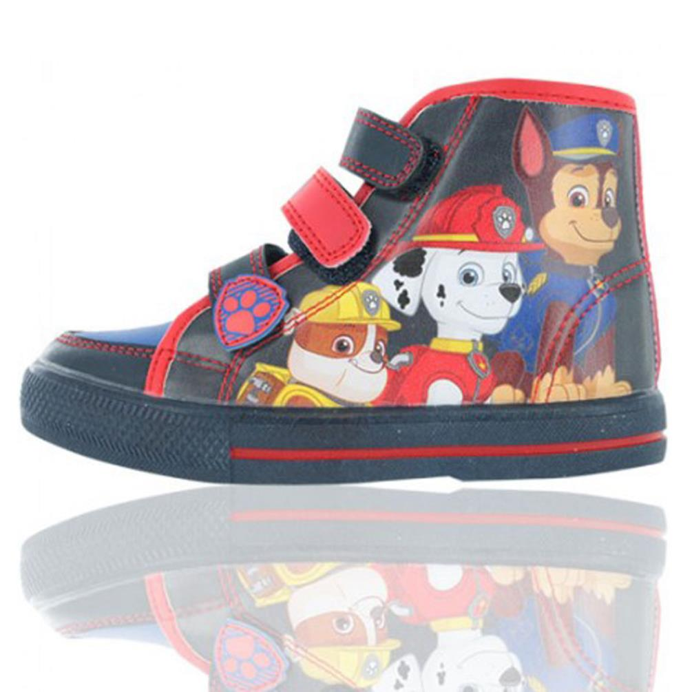 8263924860a Paw Patrol Triple Strap Hi Top Trainers (GBI06892A) - Character Brands