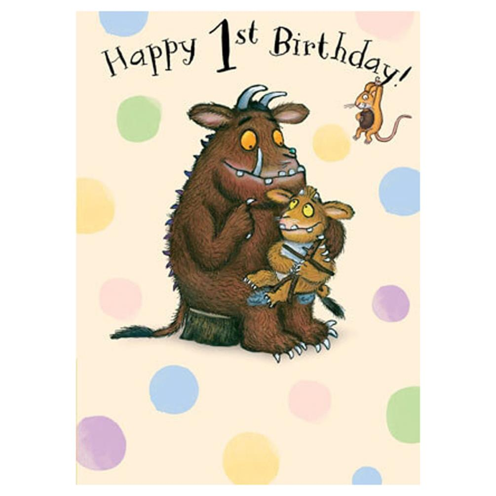 Happy 1st Birthday The Gruffalo Birthday Card Gr006 Character Brands