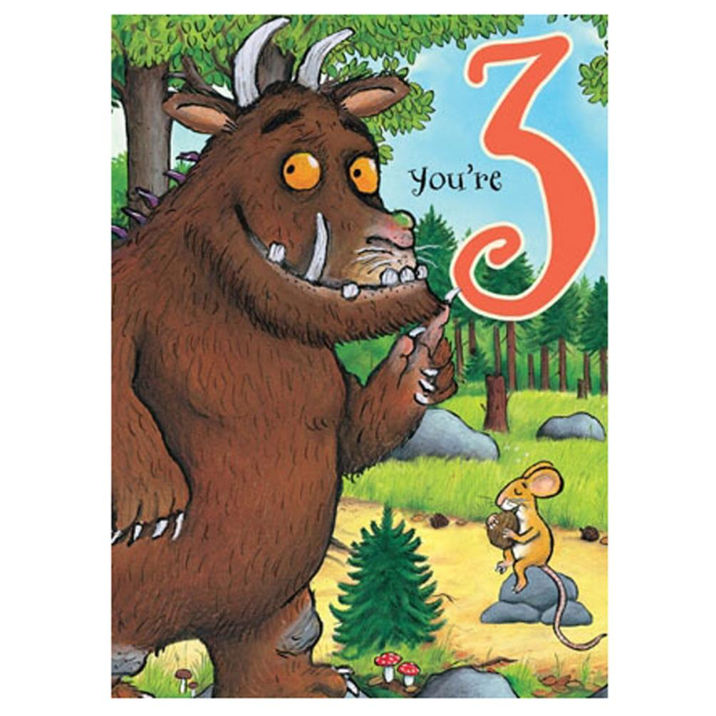 You Are 3 The Gruffalo 3rd Birthday Card Gr008 Character Brands