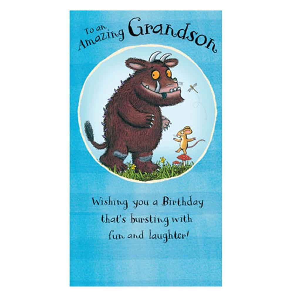 Amazing Grandson The Gruffalo Birthday Card Gr019 Character Brands