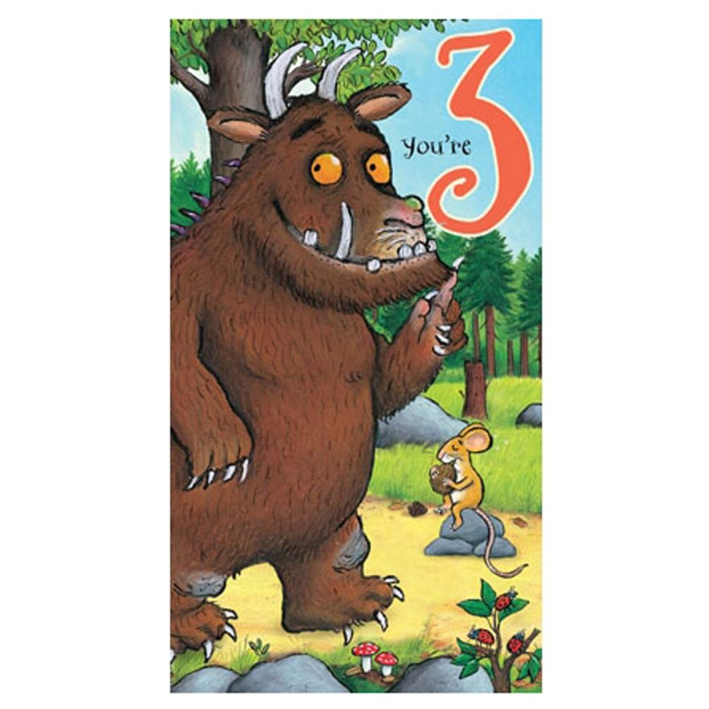 You Are 3 The Gruffalo 3rd Birthday Card Gr020 Character Brands