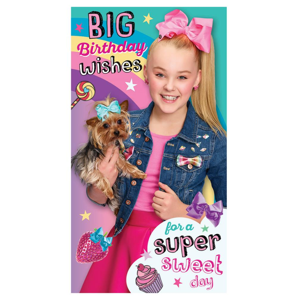 Birthday Wishes Jojo Siwa Card With Stickers Amp Door Hanger