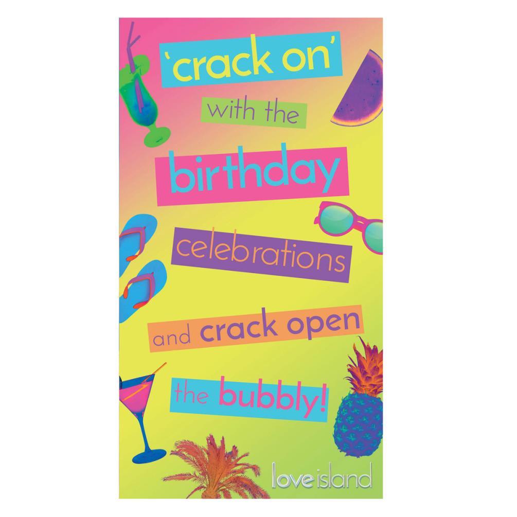 Love Island Birthday Card