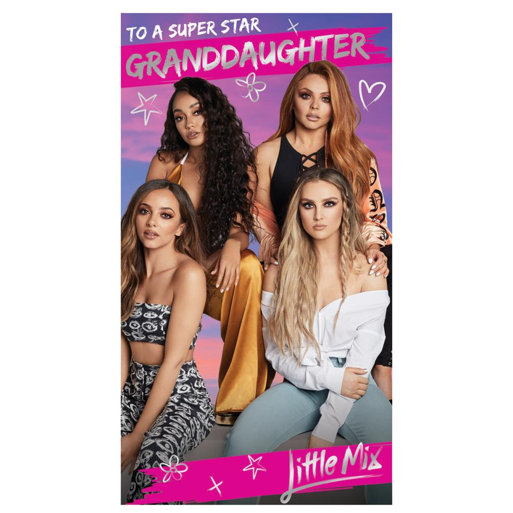 Personalised Birthday Card Little Mix Daughter Sister Granddaughter Friend Mh