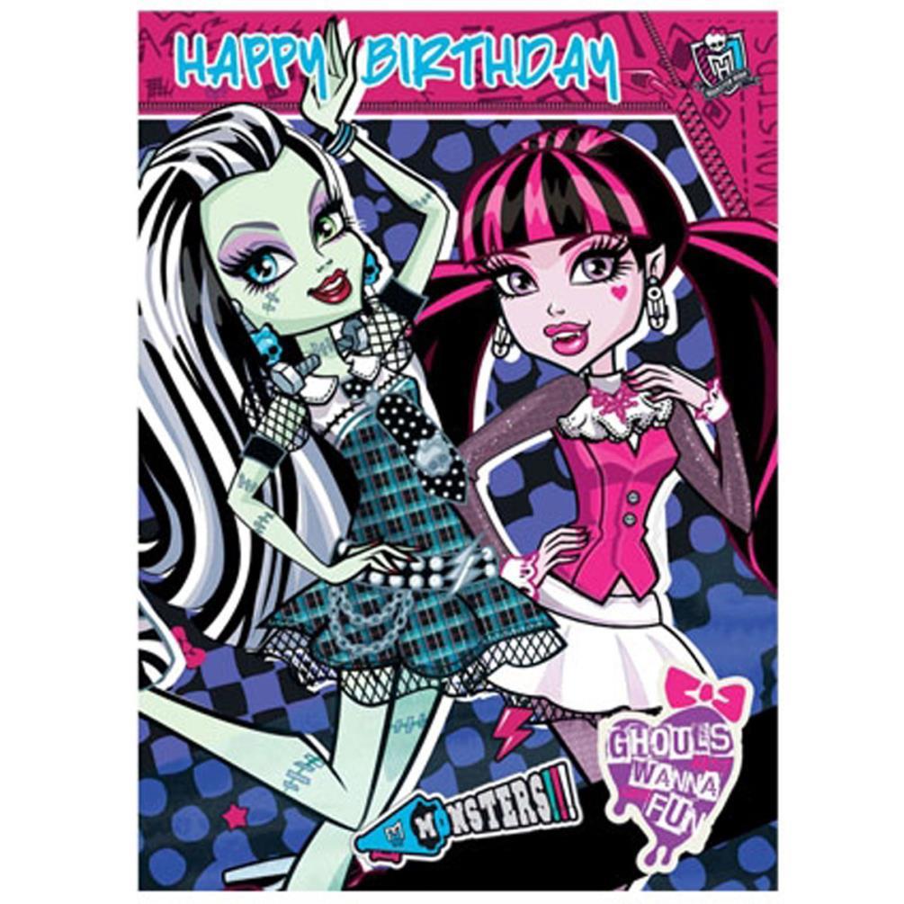 Monster High Birthday Cards Assorted – Monster High Birthday Card