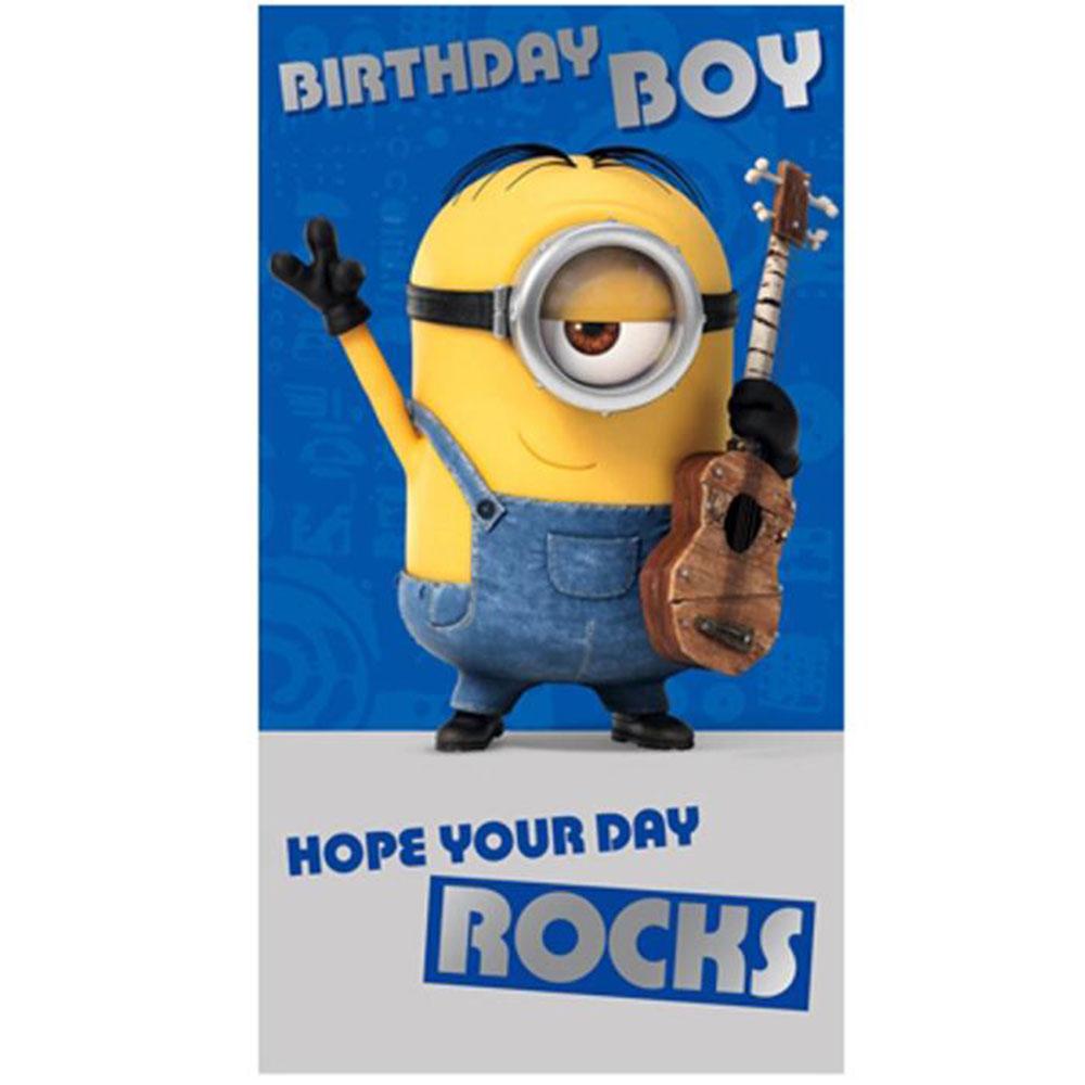 Birthday Boy Minions Birthday Card (MM007) - Character Brands