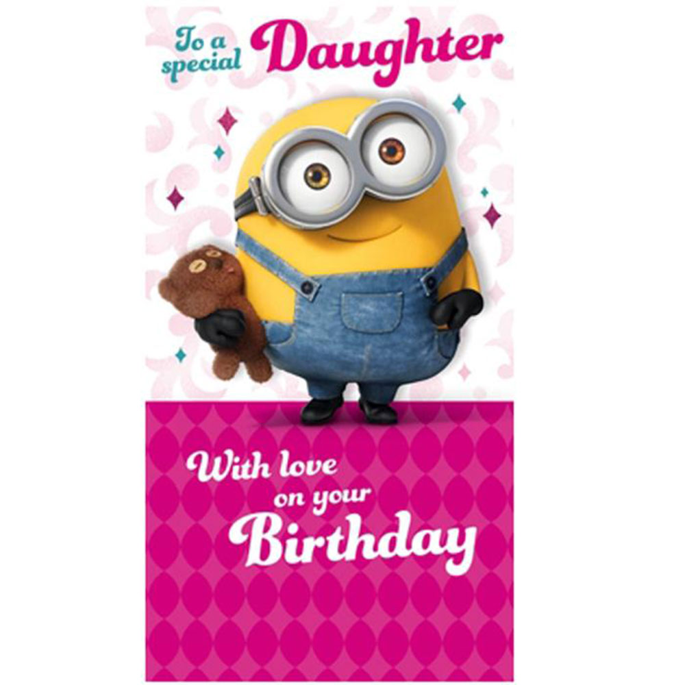 Special Daughter Minions Birthday Card 210