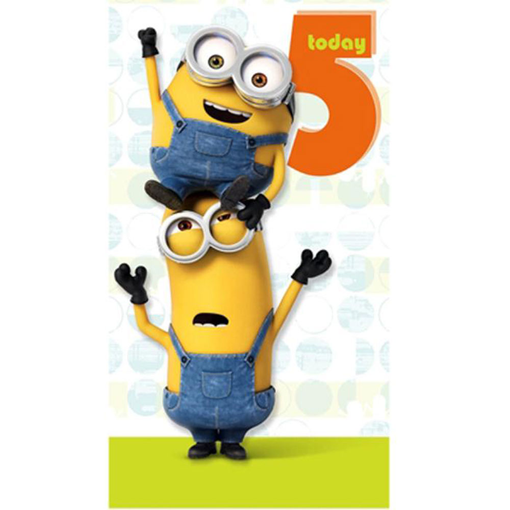 5 Today Minions Birthday Card 210