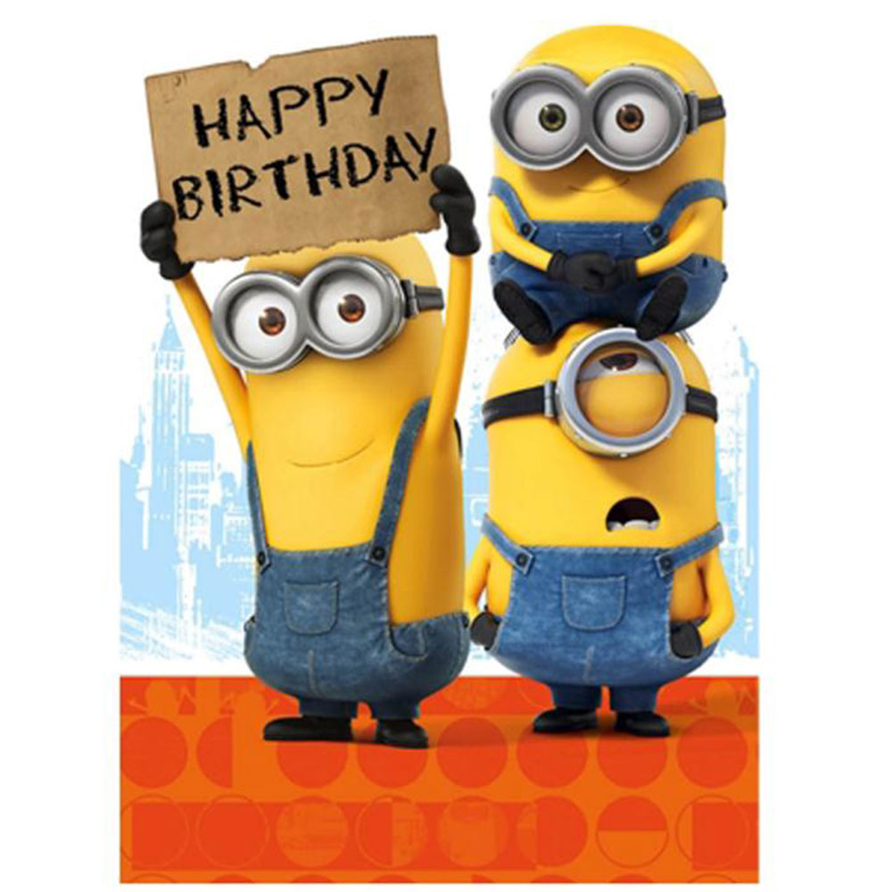Magic image throughout printable minion birthday card