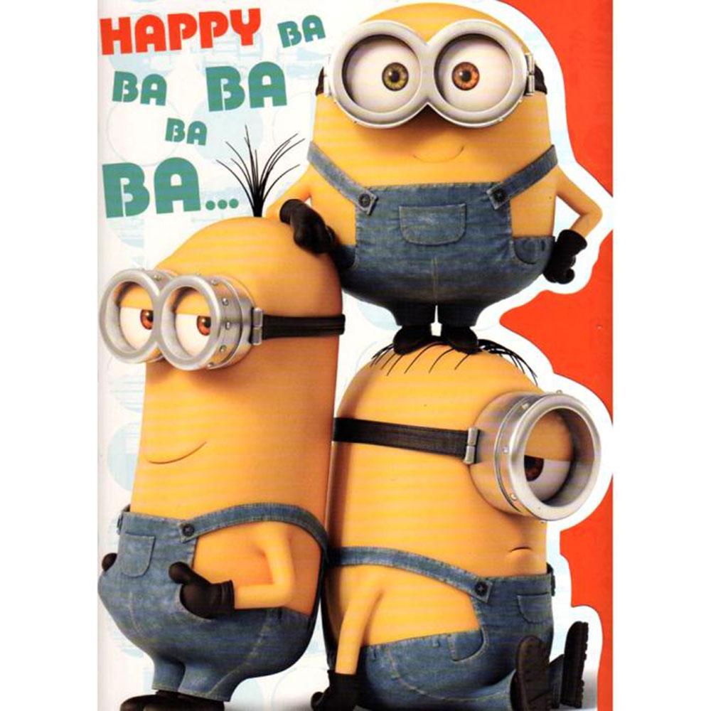 Large Minions Birthday Card