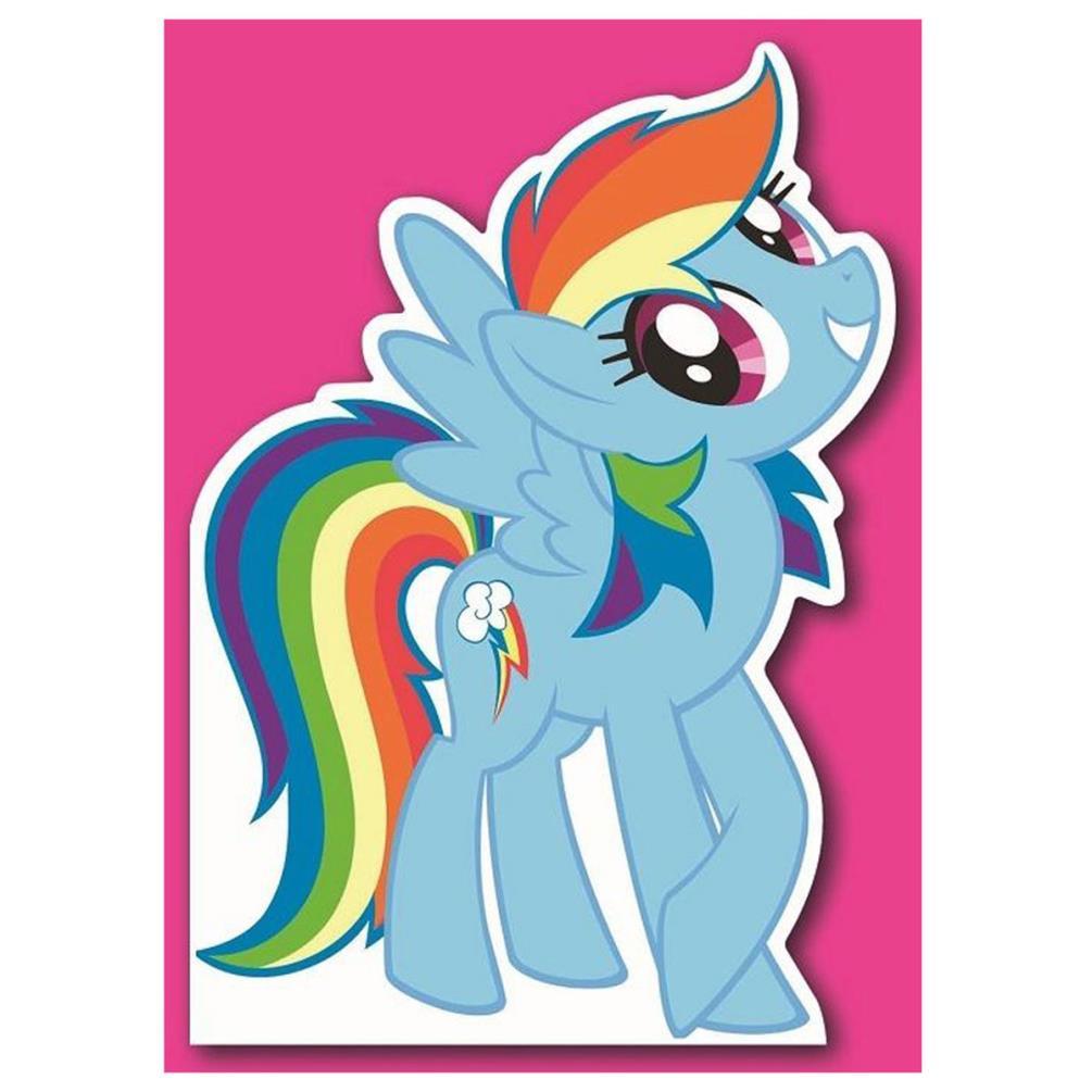 rainbow dash my little pony birthday card mp031