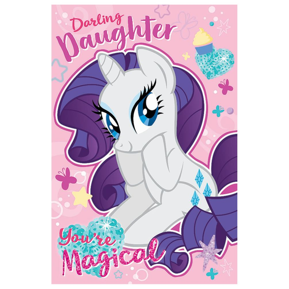 Superb Darling Daughter My Little Pony Birthday Card Mp055 Character Funny Birthday Cards Online Inifodamsfinfo