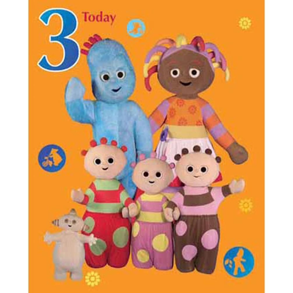 In The Night Garden 3 Today Large 3rd Birthday Card GBP299