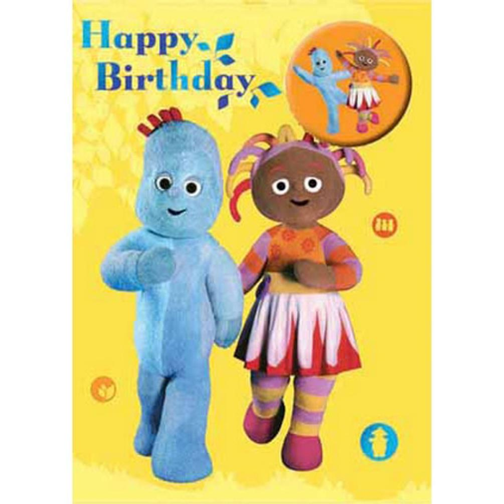 In The Night Garden Badged Happy Birthday Card (NG014) - Character ...