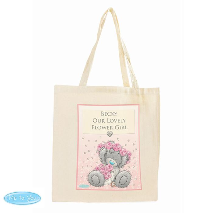c13ebc18655 Personalised Me to You Flower Girl Bridesmaid Wedding Cotton Bag £13.99