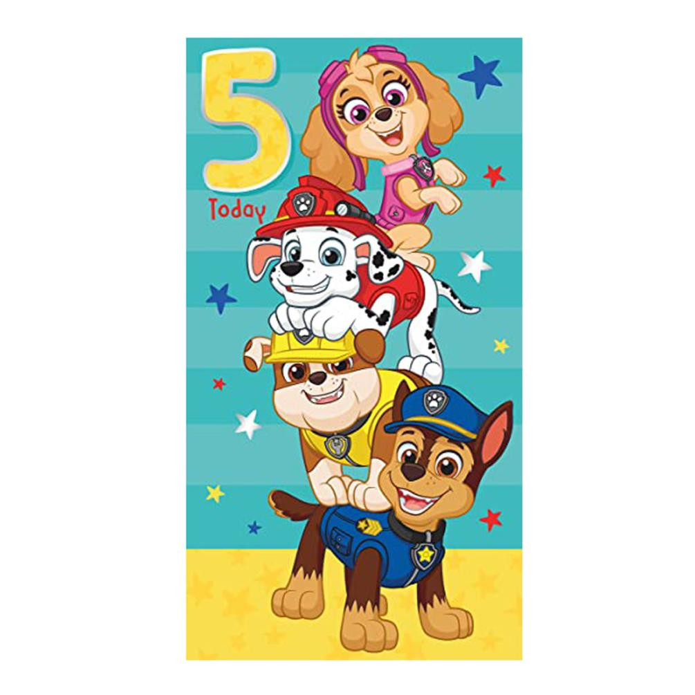It is a picture of Candid Paw Patrol Printable Birthday Card