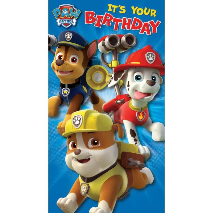 It's just a photo of Gratifying Paw Patrol Printable Birthday Card