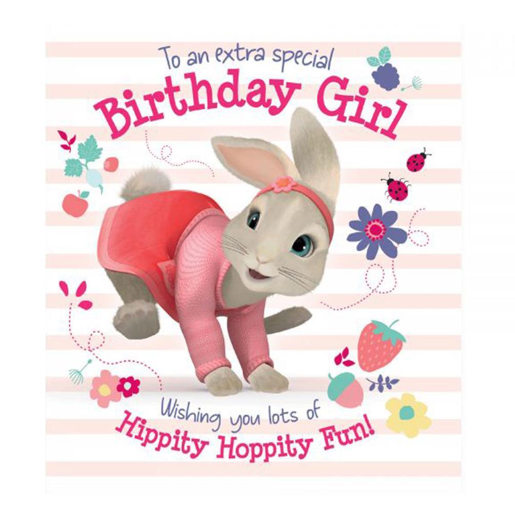 Peter Rabbit Birthday Girl Card 210