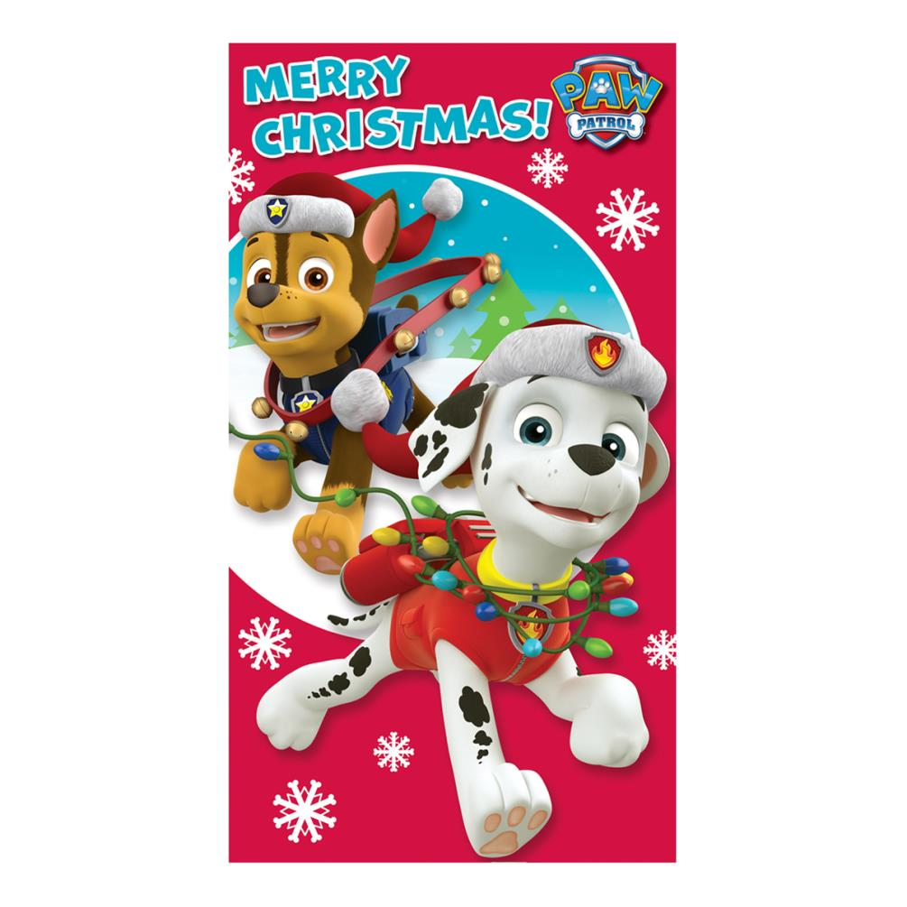 paw patrol merry christmas card ptx01  character brands