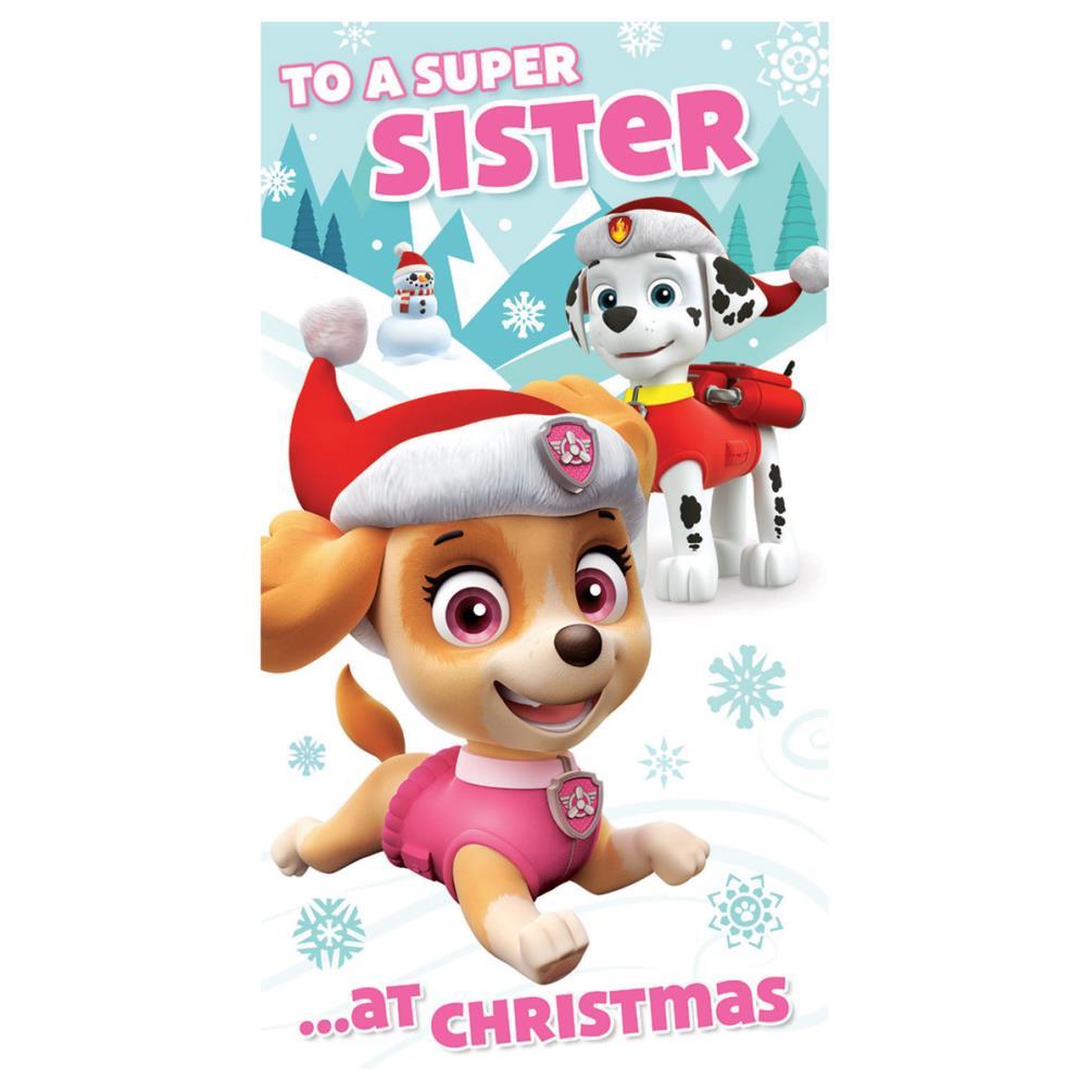 Paw Patrol Christmas.Paw Patrol Sister Christmas Card