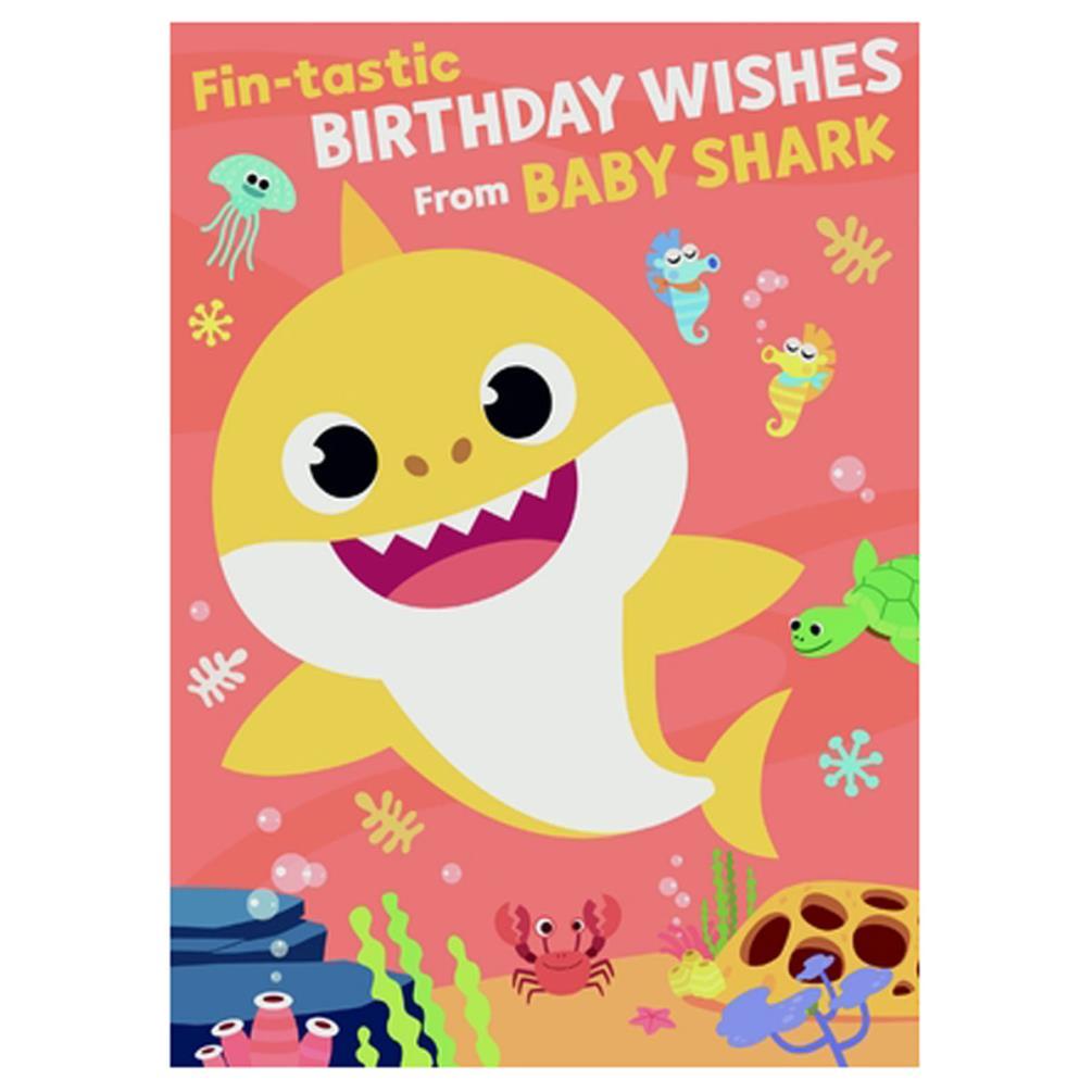 Baby Shark Birthday Wishes Sound Card (SC208)
