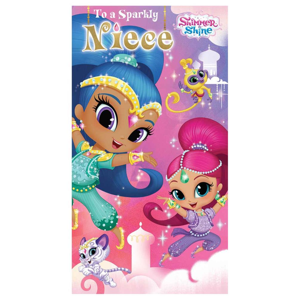 * SHIIMER AND SHINE DAUGHTER NIECE GRANDDAUGHTER PERSONALISED CHRISTMAS CARD