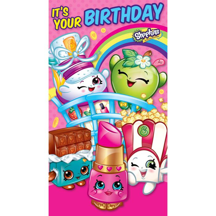 This is a picture of Shopkins Birthday Card Printable within happy birthday
