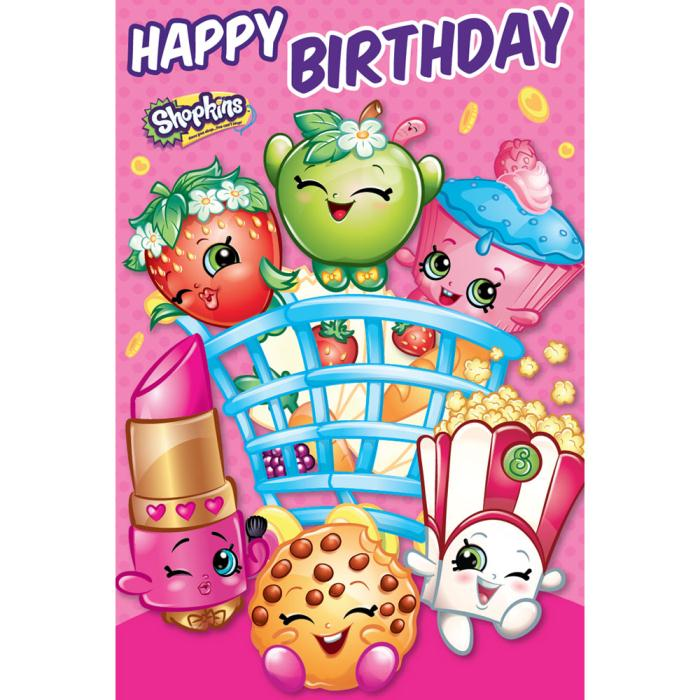 graphic regarding Shopkins Birthday Card Printable titled Content Birthday Shopkins Doorway Hanger Birthday Card