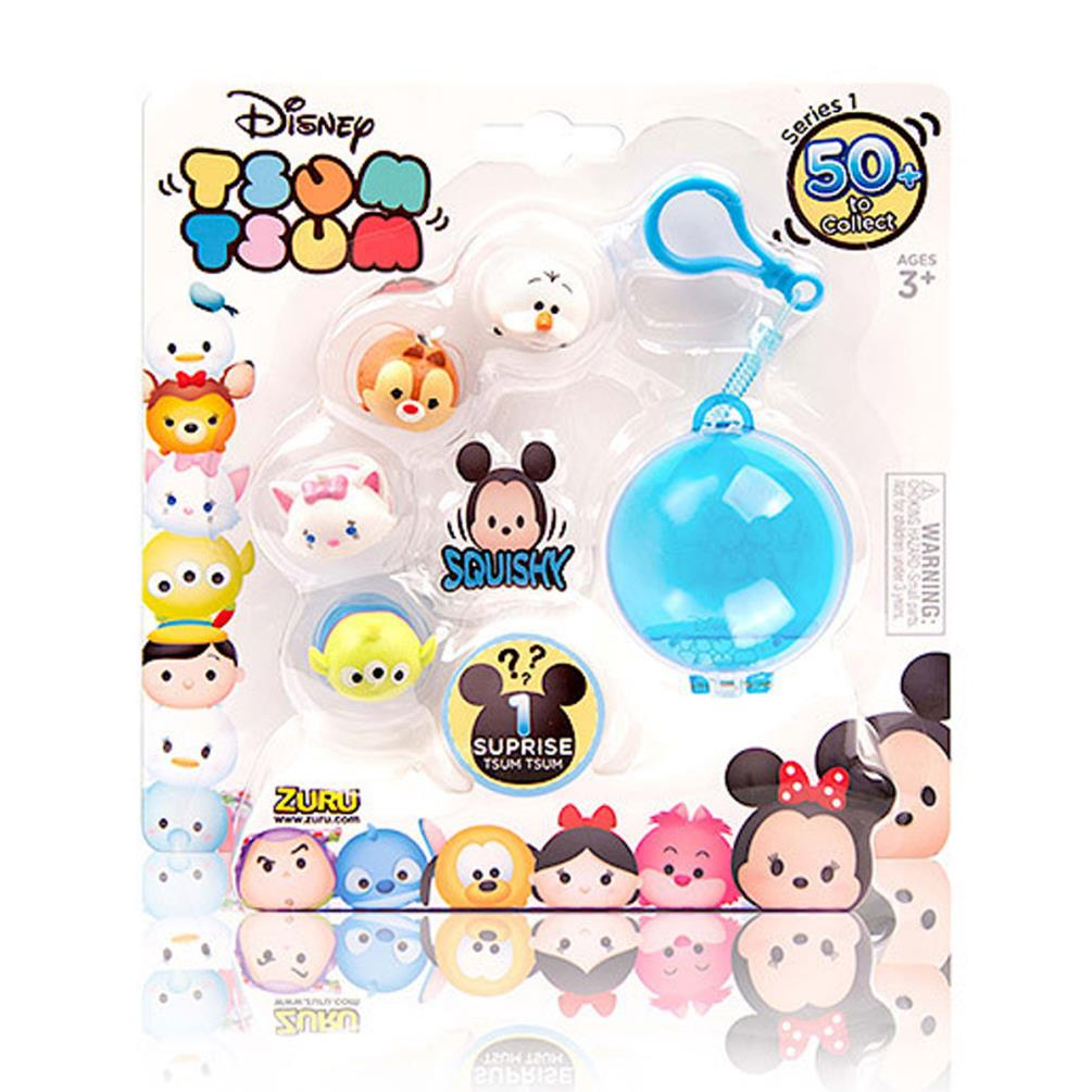 Tsum Tsum Pack Of 5 Mystery Mini Figures With Key Chain Tt5804q