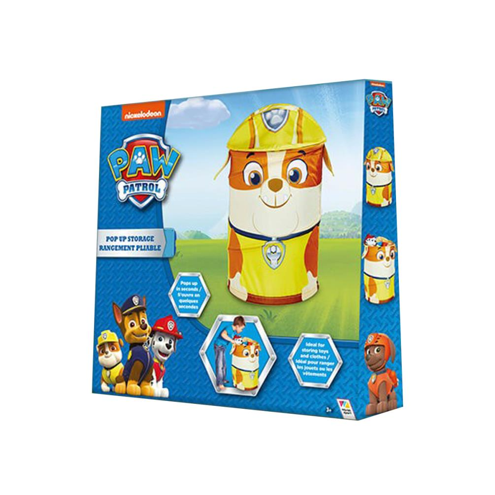 Paw Patrol Toy Organizer Bin Cubby Kids Child Storage Box: Paw Patrol Pop Up Toy Storage Bin (WA276PWP)