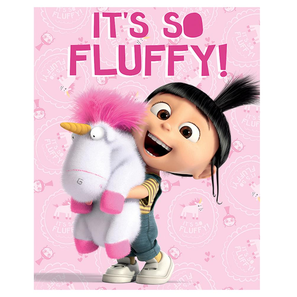 Despicable Me Fluffy Unicorn Canvas Print 40cm X 50cm