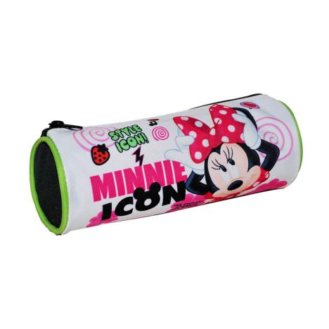 Minnie Mouse Style Icon Round Pencil Case   £1.99