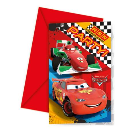 Disney Cars Chequered Flag Invitations & Envelopes (Pack of 6)  £2.49
